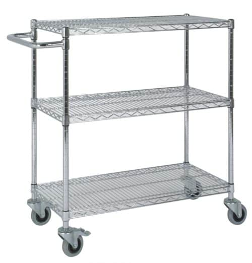 Chrome Wire 3 Tier Trolley