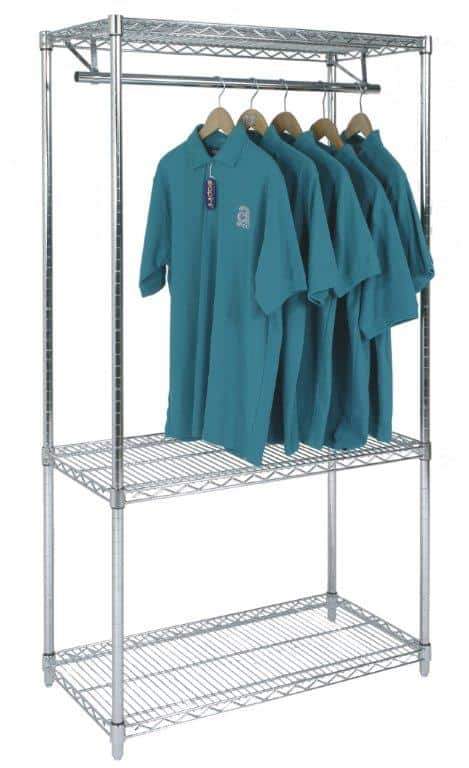 Chrome Wire Garment Rack