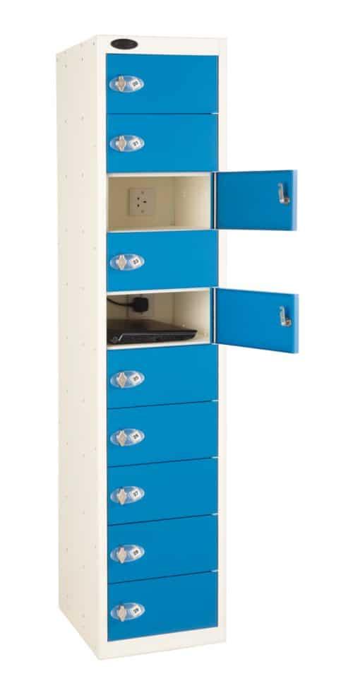Probe Media Tower - 10 Door, 10 Shelf Laptop Locker