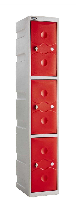 Probe Ultra Box Plastic Lockers - Three Compartments