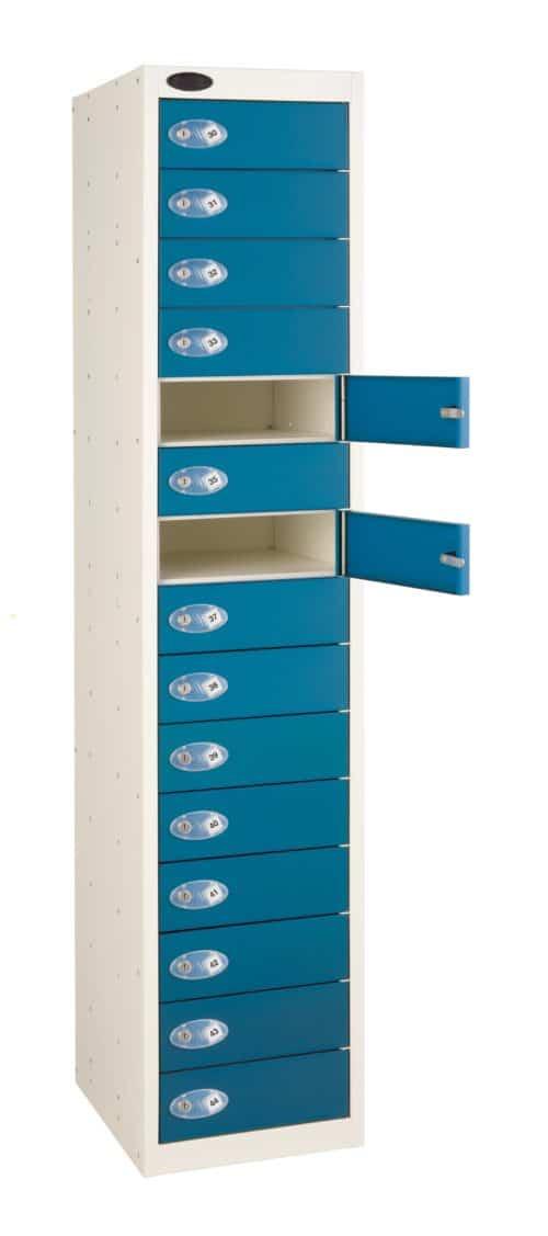 Probe Media Tower - 15 Door, 15 Shelf Laptop Locker