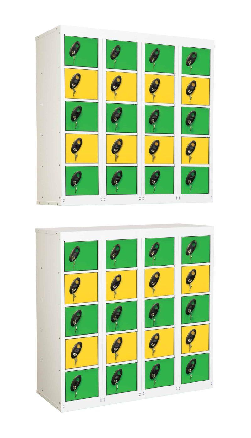 20 Multi Door Low Stackable Lockers