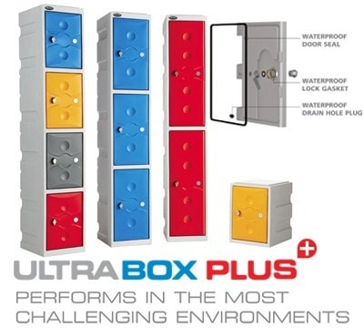 Probe Ultra Box Plastic Lockers - Two Compartments
