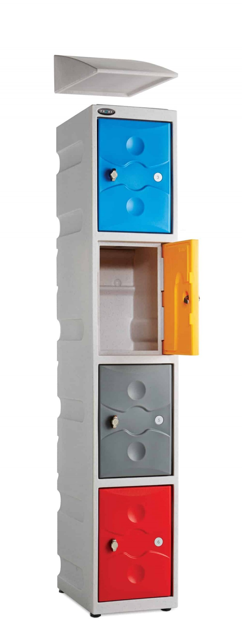 Probe Ultra Box Plastic Lockers - Three Compartments