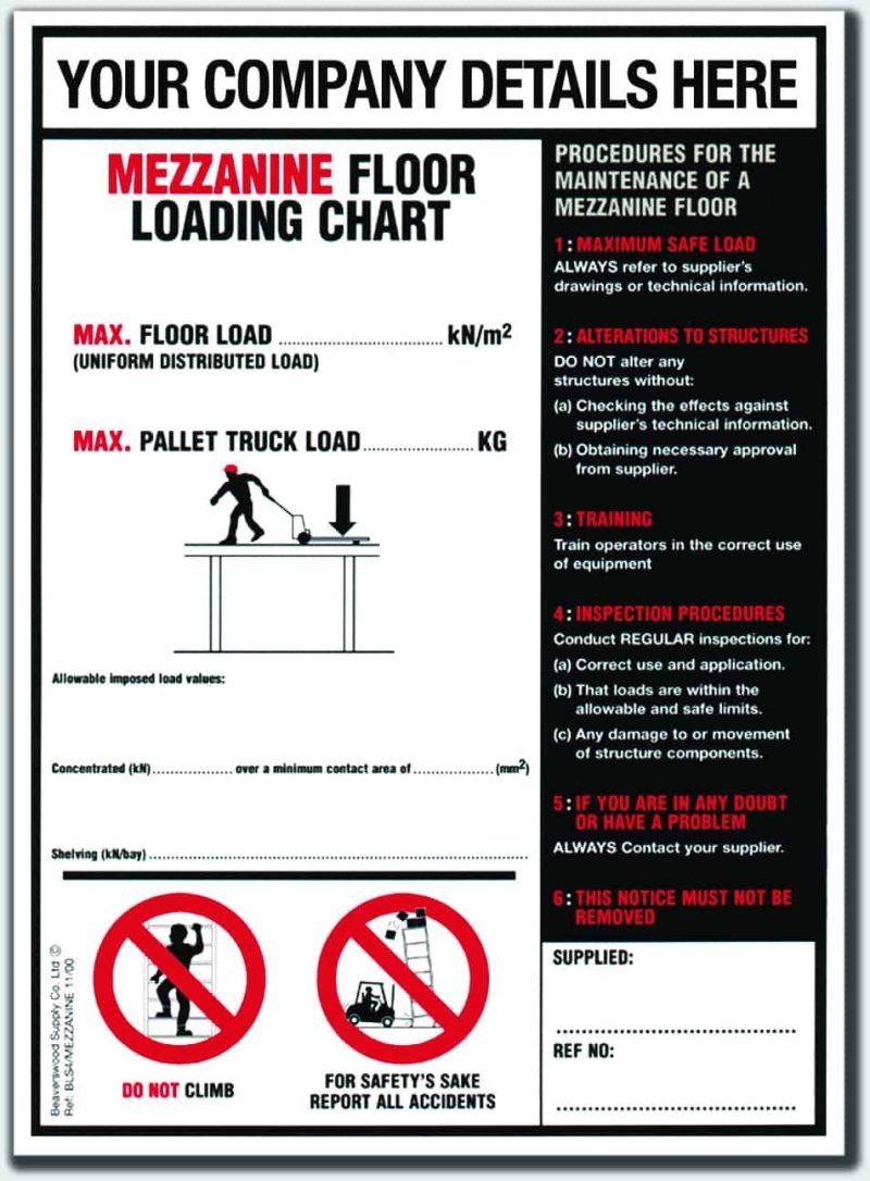 BLS4 (Mezzanine Floor Load Notice)