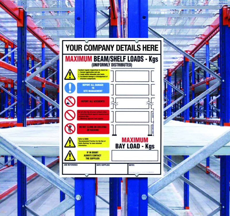 BLS5 (Pallet Racking Notice)
