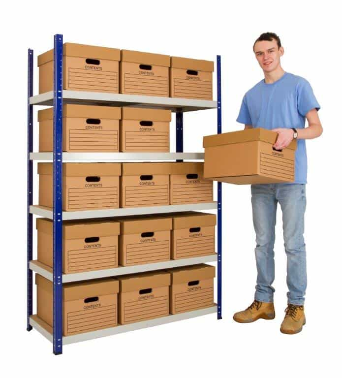 Budget Archive Storage Shelving (Including Archive Boxes)