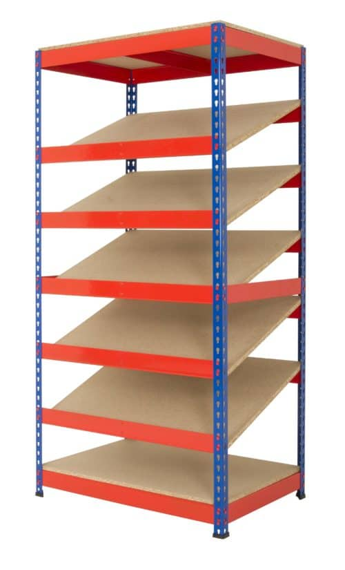 KanBan Shelving with 5 sloping shelves (RRKB01/MT)