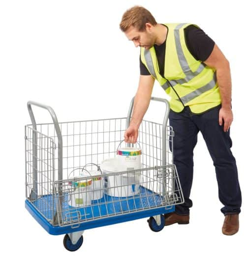 Proplaz Blue Mesh Truck with Open Top & 1/2 Drop Side (PPU23Y)
