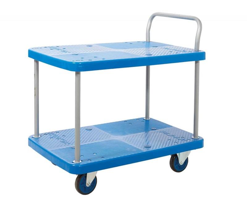 Proplaz Blue 2 Shelf Trolley (PPU95Y)