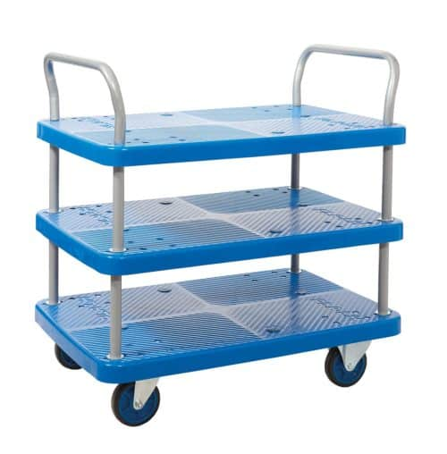 Proplaz Blue 3 Shelf Trolley (PPU96Y)