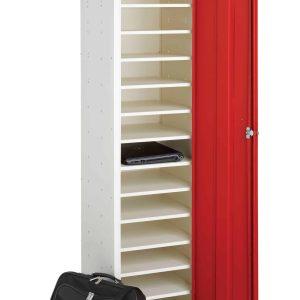Probe Media Tower - Single Door, 15 Shelf Laptop Locker