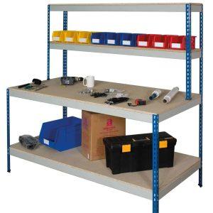 Rivet Workstation Full Undershelf (Chipboard Decking)