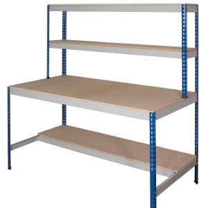 Rivet Workstation - Half Undershelf (Chipboard Decking)
