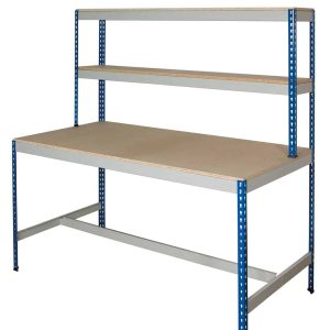 Rivet Workstation - T Bar (Chipboard Decking)