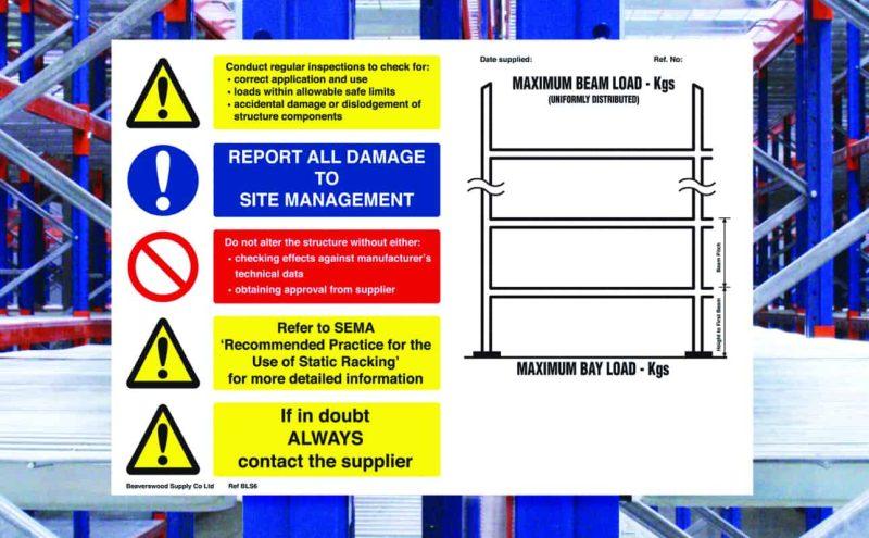 BLS6 (Pallet Racking Notice)