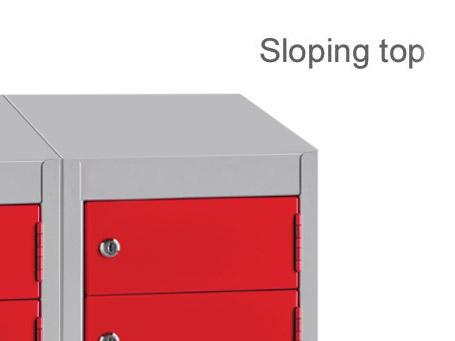 Low Wallet 8 Tier Locker Including Sloping Top